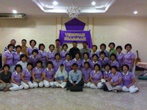 Gereja Tuhan dari Korea, yang datang ke rumah doa untuk berdoa bagi Indonesia.